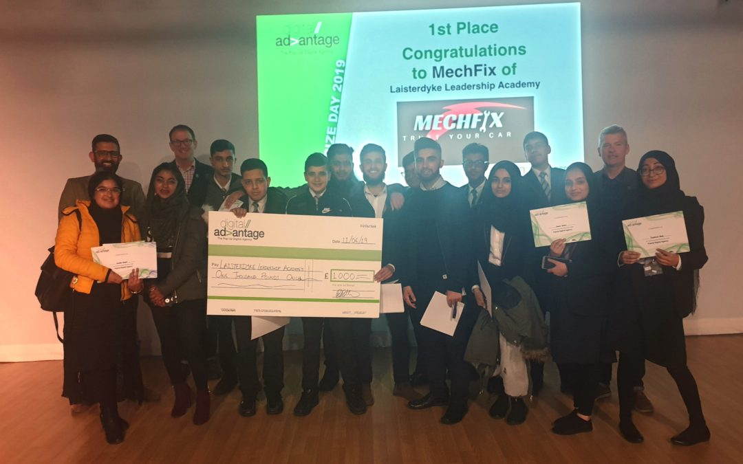 Pupils feeling 'appy' after winning £2,000 for digital business innovation